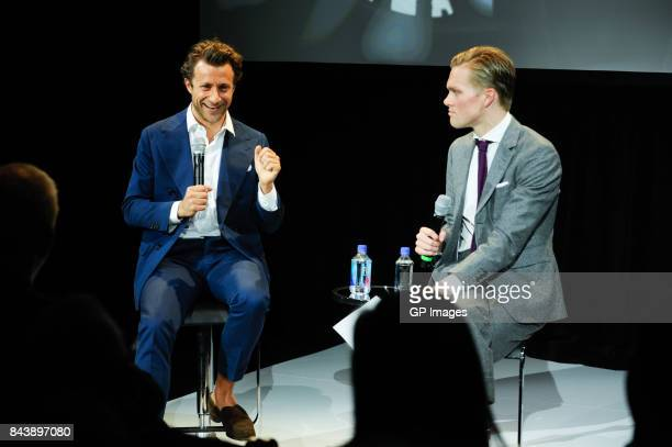 Director Francesco Carrozzini and Mark Guiducci at screening of 'Franca Chaos and Creation' during Toronto Fashion Week at BloorYorkville on...