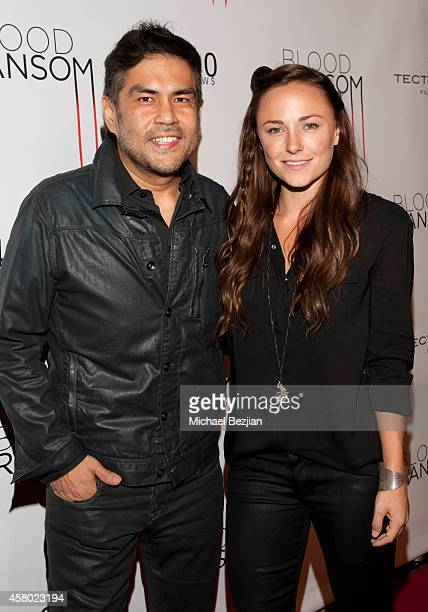 "Director Francis dela Torre and actress Briana Evigan attend the Los Angeles Premiere Of ""Blood Ransom"" on October 28, 2014 in Los Angeles,..."
