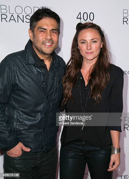 "Director Francis dela Torre and actress Briana Evigan attend the Los Angeles Premiere of ""Blood Ransom"" at ArcLight Hollywood on October 28, 2014 in..."