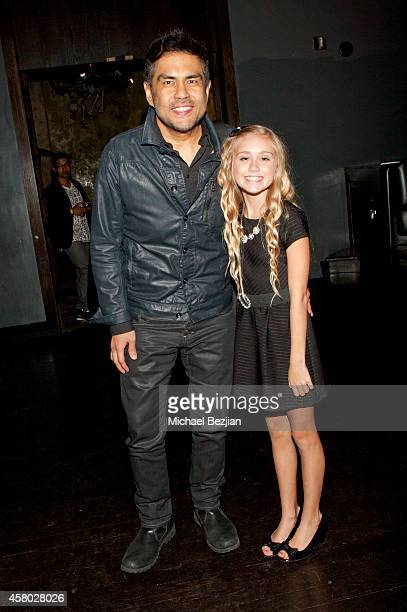 "Director Francis dela Torre and actress Emily Skinner attend the Los Angeles Premiere Of ""Blood Ransom"" on October 28, 2014 in Los Angeles,..."
