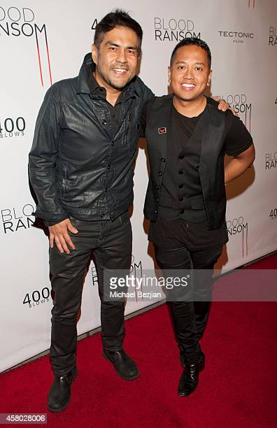 "Director Francis dela Torre and Allen Del Rosario attend the Los Angeles Premiere Of ""Blood Ransom"" on October 28, 2014 in Los Angeles, California."