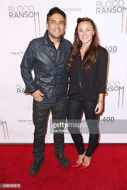 "Director Francis dela Torre and Briana Evigan attends ""Blood Ransom"" Los Angeles Premiere at ArcLight Hollywood on October 28, 2014 in Hollywood,..."