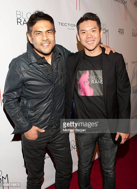"Director Francis dela Torre and producer Albert Chang attend the Los Angeles Premiere Of ""Blood Ransom"" on October 28, 2014 in Los Angeles,..."