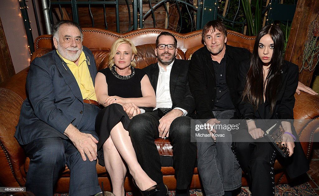 Director Francis Ford Coppola, actress Patricia Arquette, Eric White, director Richard Linklater, and actress Lorelei Linklater attend the AMC Networks and IFC Films Spirit Awards After Party on February 21, 2015 in Santa Monica, California.