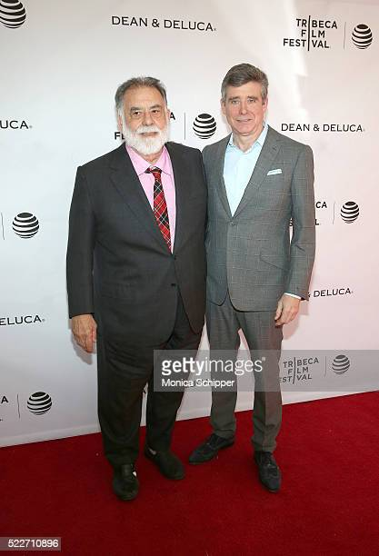 Director Francis Ford Coppola and Author Jay McInerney attend Tribeca Talks Storytellers: Francis Ford Coppola With Jay McInerney at SVA Theatre 1 on...