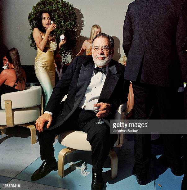 Director Francis Ford Coppola and author/TV host Padma Lakshmi are photographed for Vanity Fair Magazine on February 29 2004 at Vanity Fair's Oscar...