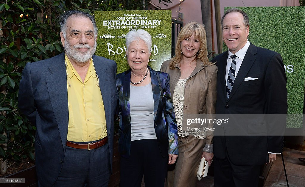 Director Francis Ford Coppola (L) and guests attend the AMC Networks and IFC Films Spirit Awards After Party on February 21, 2015 in Santa Monica, California.