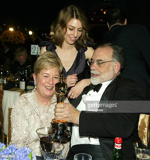 Director Francis Ford Coppola and his wife Eleanor with their daughter Best Original Screenplay winner Sofia Coppola at the 76th Annual Academy...