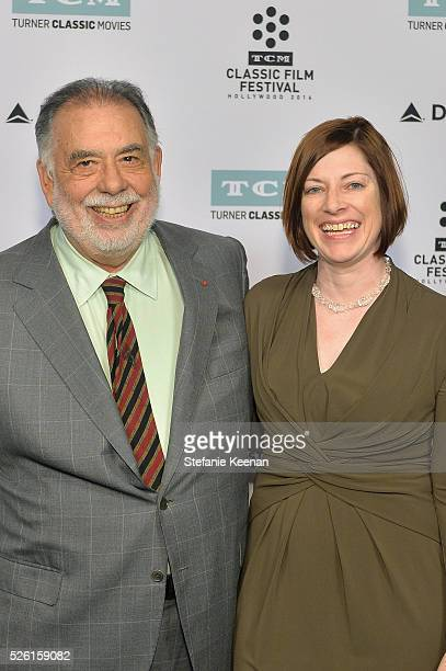Director Francis Ford Coppola and Managing Director of TCM Classic Film Festival Genevieve McGillicuddy attend 'The Conversation' screening during...