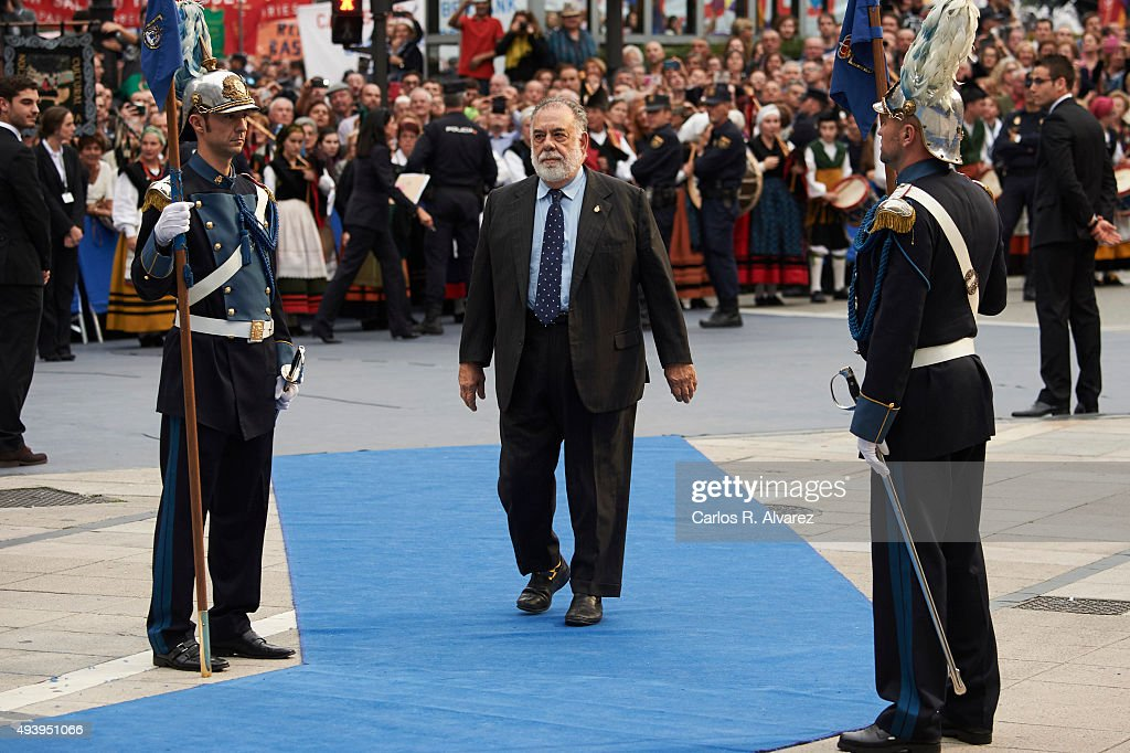 USA director Francis Ford Coppola arrives to the Campoamor Theater for the Princess of Asturias Award 2015 ceremony on October 23, 2015 in Oviedo, Spain.