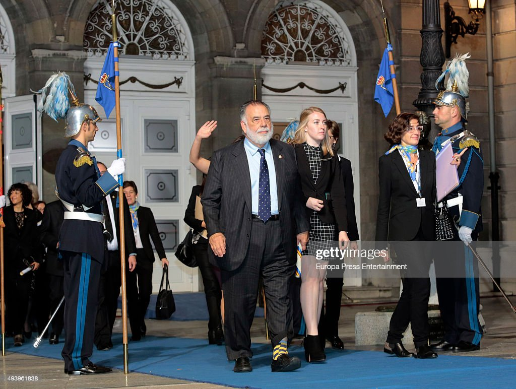 USA director Francis Ford Coppola attends the Princess of Asturias (Princesa de Asturias) award 2015 at the Campoamor Theater on October 23, 2015 in Oviedo, Spain.