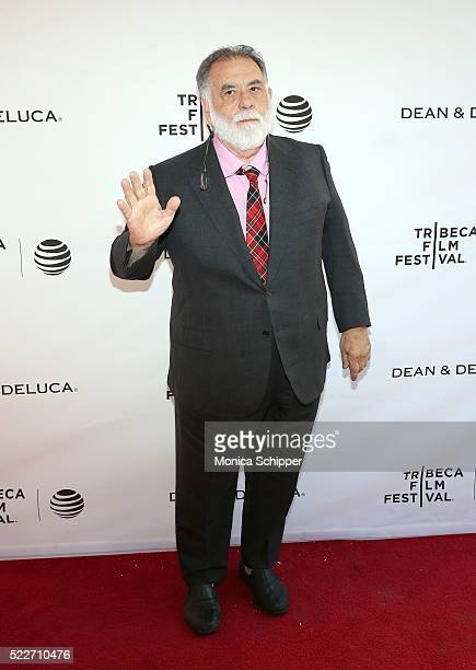 Director Francis Ford Coppola attends Tribeca Talks Storytellers Francis Ford Coppola With Jay McInerney at SVA Theatre 1 on April 20 2016 in New...
