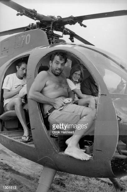 Director Francis Ford Coppola boards a helicopter during filming of his Vietnam War epic Apocalypse Now April 28 1976 in Baler Philippines The new...