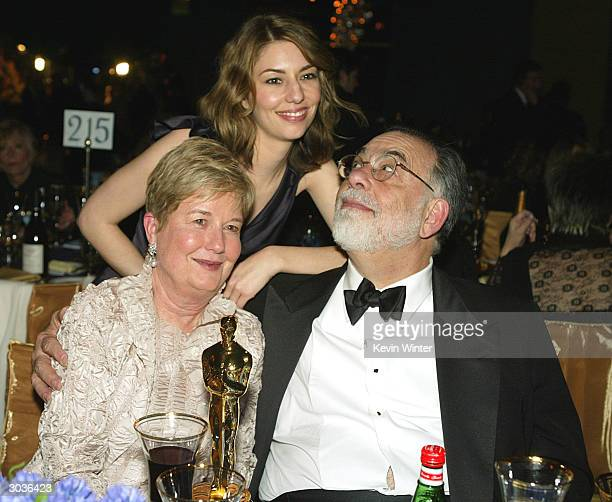 Director Francis Ford Coppola , his wife Eleanor and their daughter Best Original Screenplay winner Sofia Coppola attend the 76th Annual Academy...