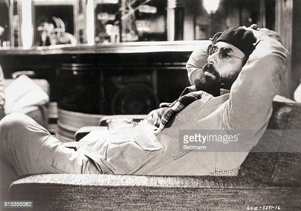 Director Francis Ford Coppola relaxes on the set of 'The Godfather' 1974