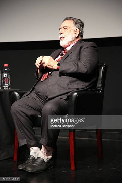 Director Francis Ford Coppola speaks on stage during Tribeca Talks Storytellers: Francis Ford Coppola With Jay McInerney at SVA Theatre 1 on April...