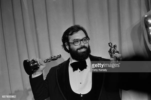 Director Francis Ford Coppola wins three Oscars for Best Director Best Picture and Best Screenplay for his film The Godfather Part 2