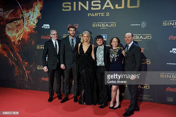 Director Francis Lawrence actor Liam Hemsworth actress Jennifer Lawrence actor Josh Hutcherson producer Nina Jacobson and producer Jon Kilik attend...
