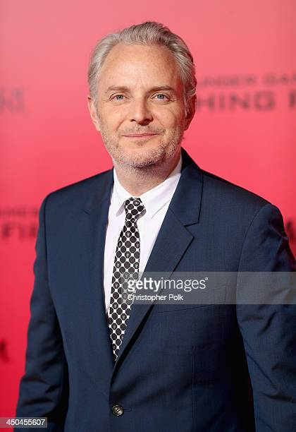 Director Francis Lawrence attends premiere of Lionsgate's The Hunger Games Catching Fire Red Carpet at Nokia Theatre LA Live on November 18 2013 in...