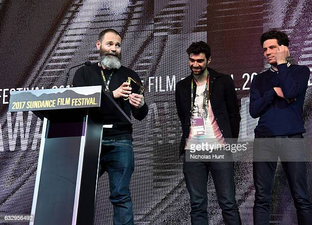 Director Francis Lee accepts the World Cinema Dramatic Special Jury Award Directing for his film God's Own Country during the 2017 Sundance Film...