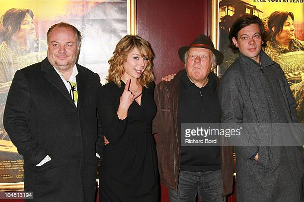 Director Franck Richard Emilie Dequenne Philippe Nahon and Benjamin Biolay attend 'La Meute' premiere at Cinema Gaumont Marignan on September 28 2010...
