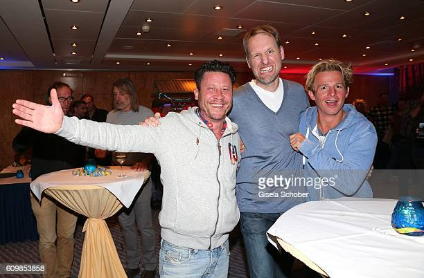 Director Franco Tozze Kai Niessen and Daniel Roesner 'Alarm fuer Cobra 11' during the surprise party for Erdogan Atalay's 50th birthday at Hotel...