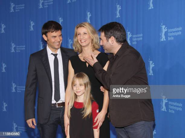 Director Francois Ozon actors Alexandra Lamy Melusine Mayance and Sergi Lopez attend the Ricky photocall during the 59th Berlin International Film...