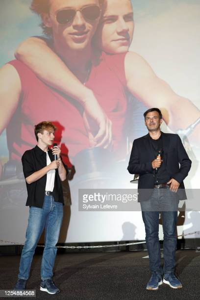 Director Francois Ozon and actor Félix Lefebvre attend the premiere of their film Ete 85 on July 07 2020 in Lille France