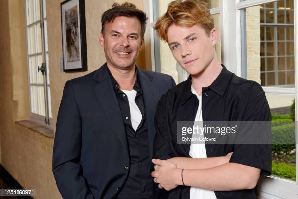 Director Francois Ozon and actor Félix Lefebvre pose before the press conference for the premiere of their film Ete 85 on July 07 2020 in Lille France