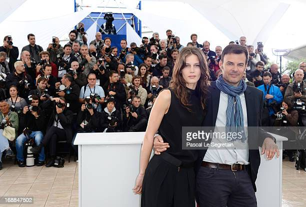 Director Francois Ozon and actress Marine Vacth attend the 'Jeune Jolie' Photocall during the 66th Annual Cannes Film Festival at the Palais des...