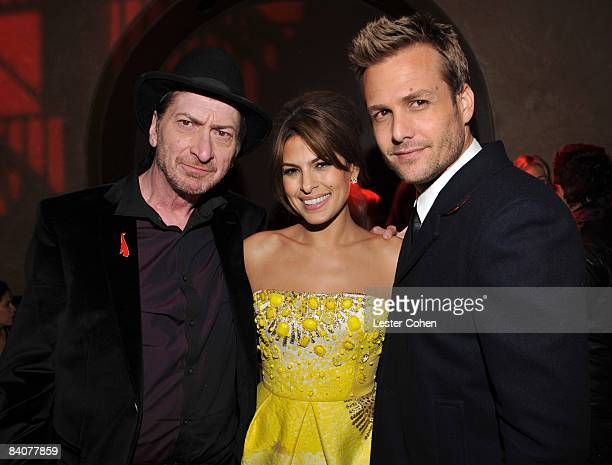 "Director Frank Miller, actress Eva Mendes and actor Gabriel Macht attend the after party of the Los Angeles premiere of ""The Spirit"" at the Grauman's..."