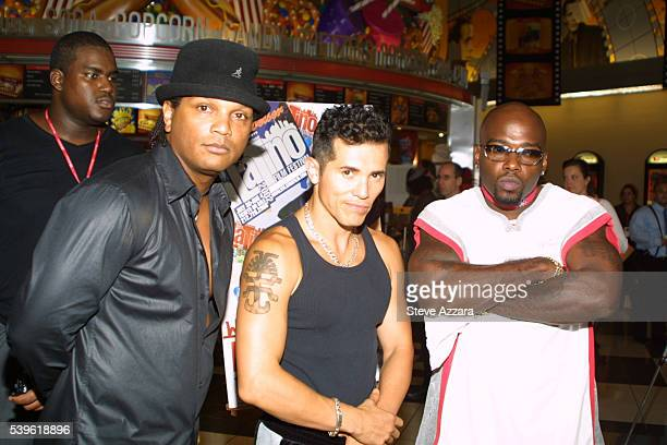 Director Frank Reyes John Leguizamo and Naughty By Nature's Treach at the opening of the New York International Latino Film Festival and the premiere...