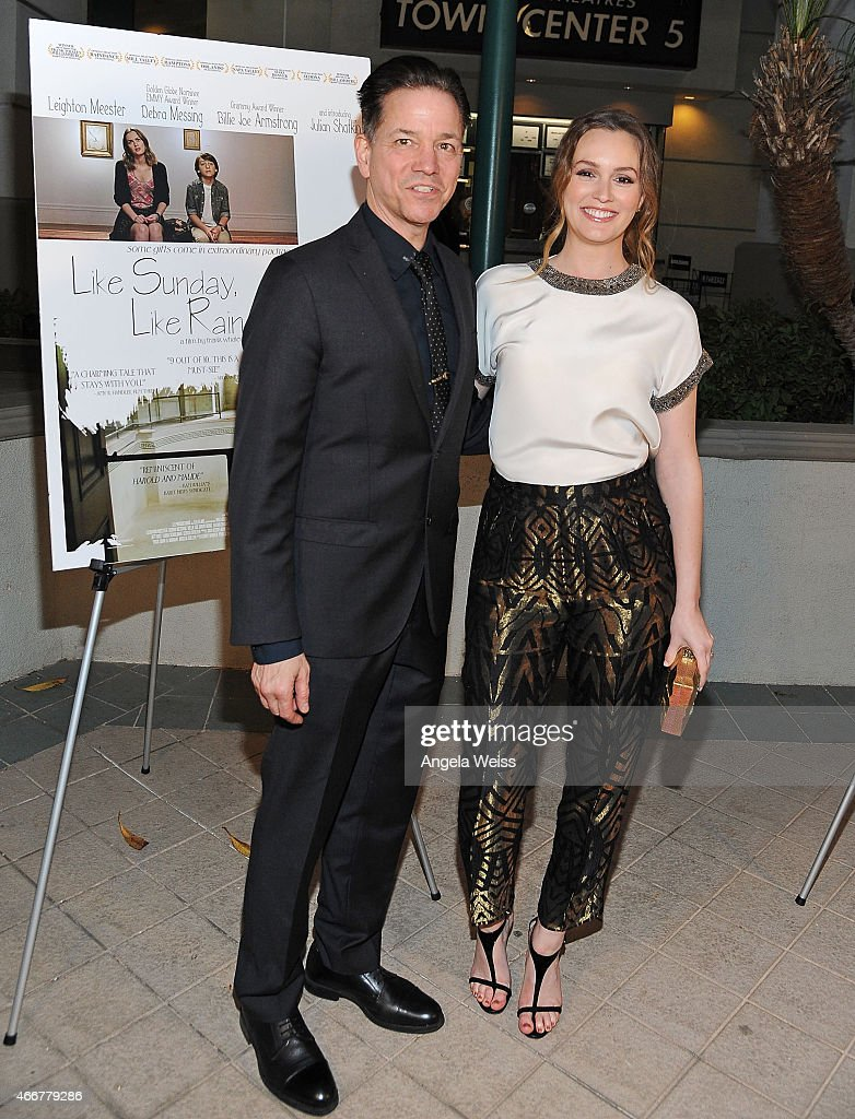 Director Frank Whaley and actress Leighton Meester attend the Premiere of Monterey Media's 'Like Sunday, Like Rain' at Laemmle's Town Center 5 on March 18, 2015 in Encino, California.
