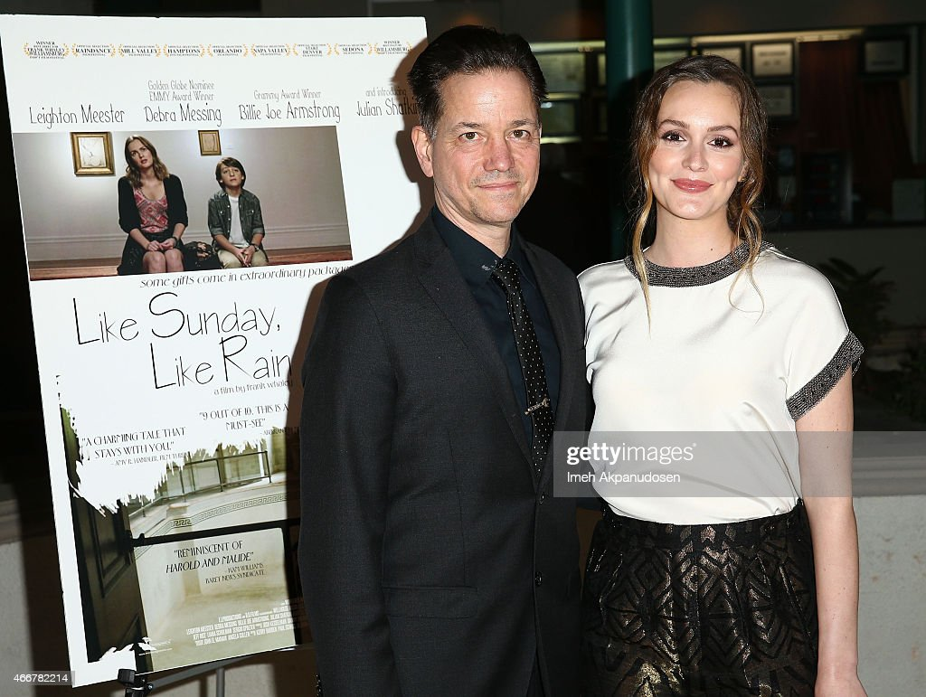 Director Frank Whaley (L) and actress Leighton Meester attend the premiere of Monterey Media's 'Like Sunday, Like Rain' at Laemmle's Town Center 5 on March 18, 2015 in Encino, California.