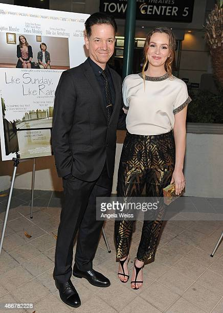 Director Frank Whaley and actress Leighton Meester attend the Premiere of Monterey Media's 'Like Sunday Like Rain' at Laemmle's Town Center 5 on...