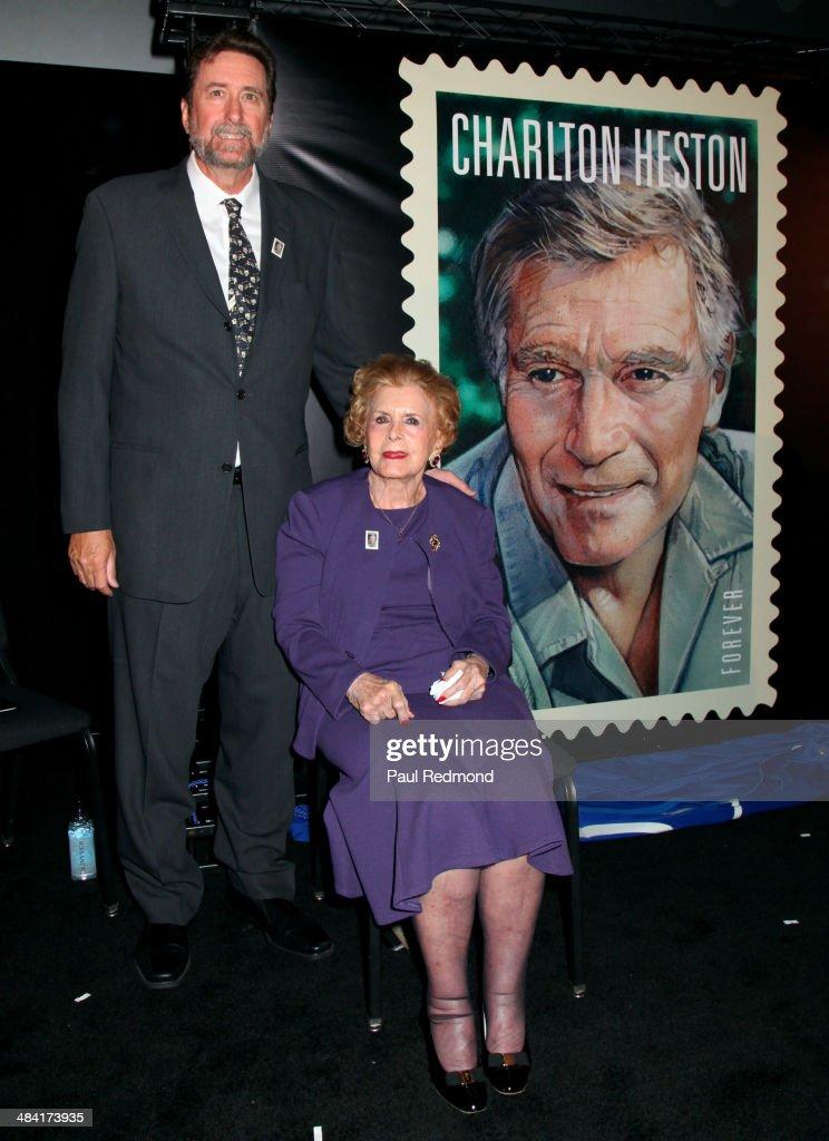 2014 TCM Classic Film Festival - Dedication Ceremony For Charlton Heston Forever Stamp : News Photo