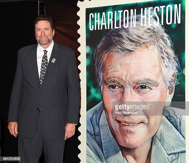 Director Fraser Clarke Heston son of Charlton Heston attends the Dedication Ceremony For Charlton Heston Forever Stamp at the 2014 TCM Classic Film...