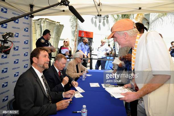 Director Fraser Heston Governor of the United States Postal Service Mickey D Barnett and CEO and Director of AFI Jean Picker Firstenberg attend the...