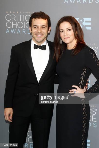 Director Fred Savage and his wife actress Jennifer Lynn Stone arrive at the 21st Annual Critics' Choice Awards at Barker Hangar at Santa Monica...