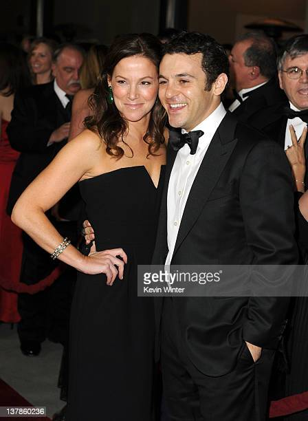 Director Fred Savage and wife Jennifer Lynn Stone arrive at the 64th Annual Directors Guild Of America Awards held at the Grand Ballroom at Hollywood...