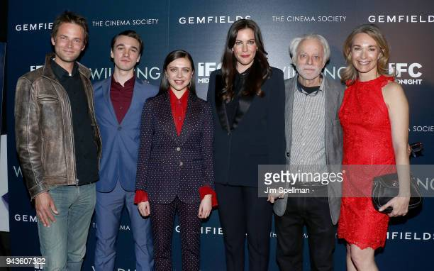 Director Fritz Bohm actors Collin KellySordelet Bel Powley Liv Tyler Brad Dourif and producer Celine Rattray attend the screening of IFC Midnight's...