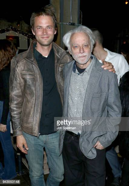 Director Fritz Bohm and actor Brad Dourif attend the screening after party for IFC Midnight's Wildling hosted by The Cinema Society and Gemfields at...