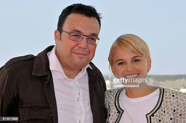 Director Gabe Ibanez and Actress Elena Anaya attend a photocall for their film Hierro at Sitges on October 2 2009 in Barcelona Spain