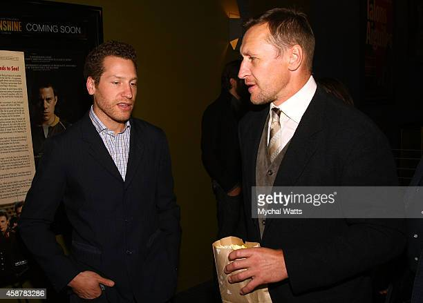 Director Gabe Polsky and NHL Player Alexei Kovalev attend the 'Red Army' New York Screening at Sunshine Landmark on November 10 2014 in New York City