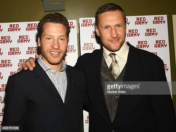 Director Gabe Polsky and NHL Player Alexi Kovalev attend the 'Red Army' New York Screening at Sunshine Landmark on November 10 2014 in New York City