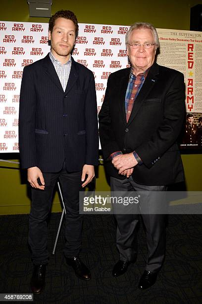 Director Gabe Polsky and President and GM of the New York Rangers Glen Sather attend the Red Army New York Screening at Sunshine Landmark on November...