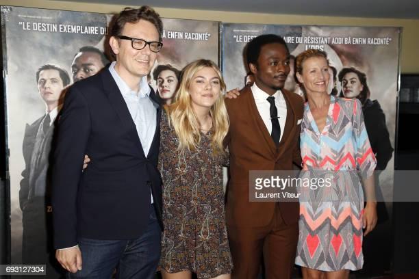 Director Gabriel Le Bomin Actress Louane Emera Actor Marc Zinga and Actress Alexandra Lamy attend Nos Patriotes Paris Premiere at UGC Cine Cite des...