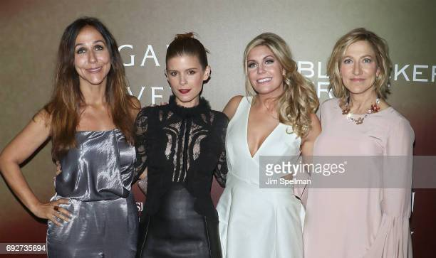 Director Gabriela Cowperthwaite actress Kate Mara former Marine Megan Leavey and actress Edie Falco attend the Megan Leavey world premiere at Yankee...