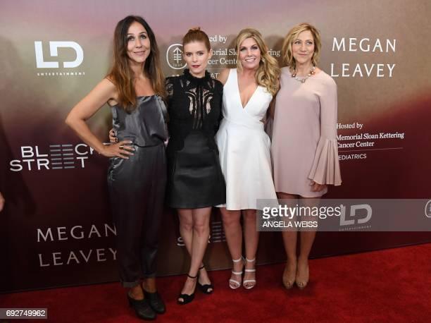 Director Gabriela Cowperthwaite, actress Kate Mara, former Marine Megan Leavey and actress Edie Falco attend the 'Megan Leavey' world premiere at...