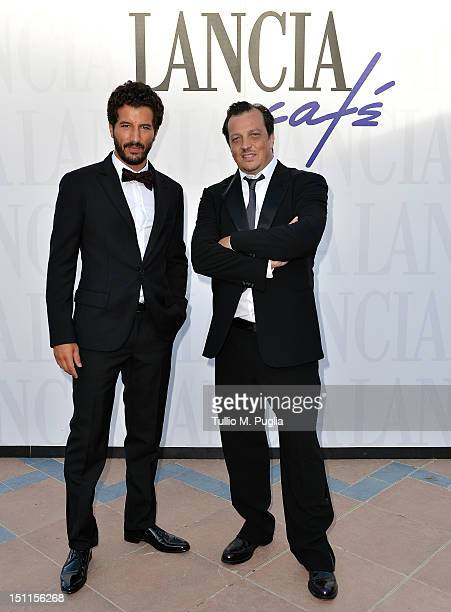 Director Gabriele Muccino and actor Francesco Scianna attend the 69th Venice Film Festival at Lancia Cafe on September 2 2012 in Venice Italy